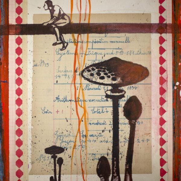Jan Wessel - Collage, Uden titel 8 - 40 x 30