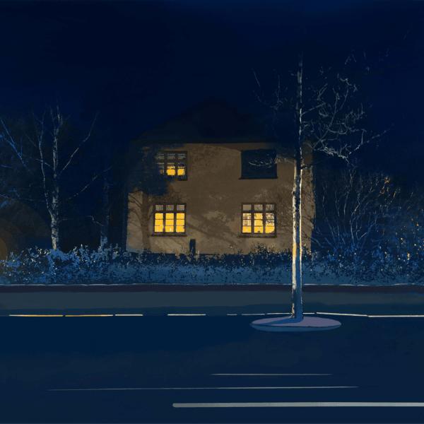 Jan Wessel - Litografi, print, Uden titel 4 - 50 x 70