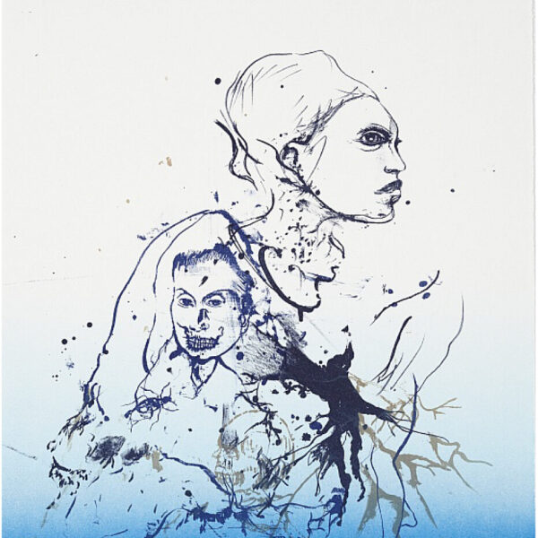 Cathrine-Raben-Davidsen-The-Secret-Language-(Blue)-2009-42x30cm