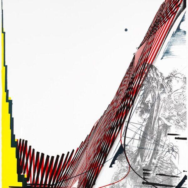 Ferdinand Ahm Kragh Litografi 74x54cm